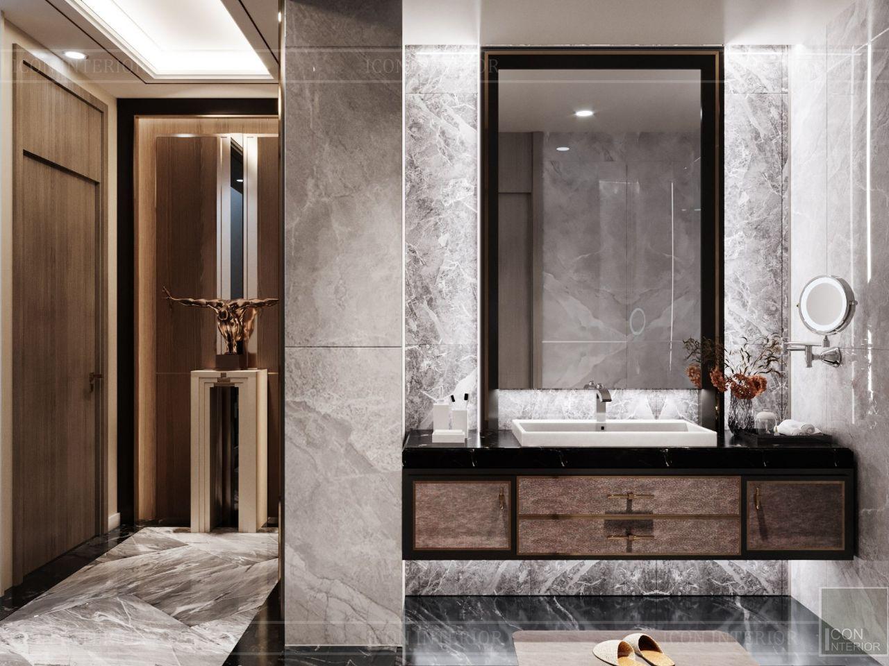 thiết kế nội thất phòng vê sinh villa an phú new city