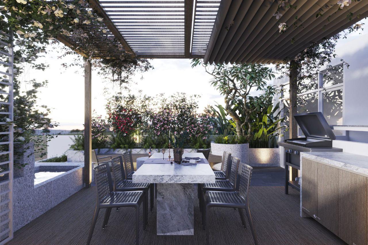 thiết kế sân thượng villa an phú new city