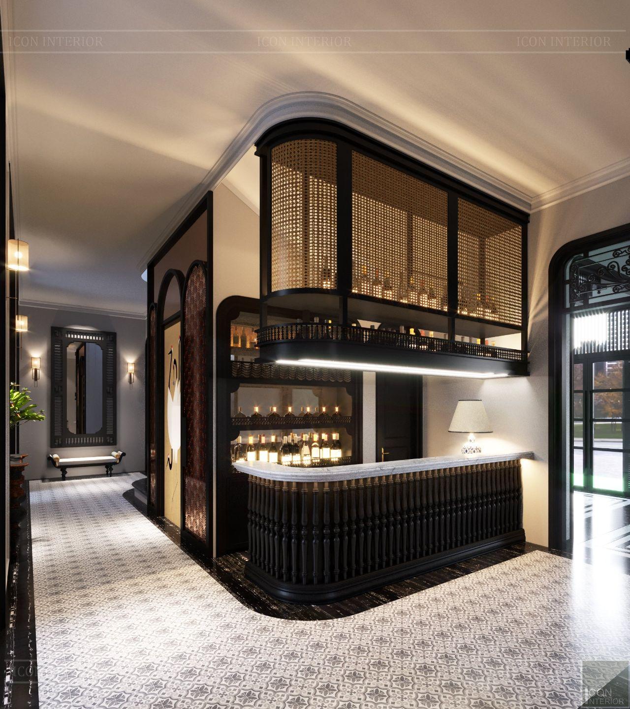 thiết kế nội thất biệt thự cao cấp 2 tầng
