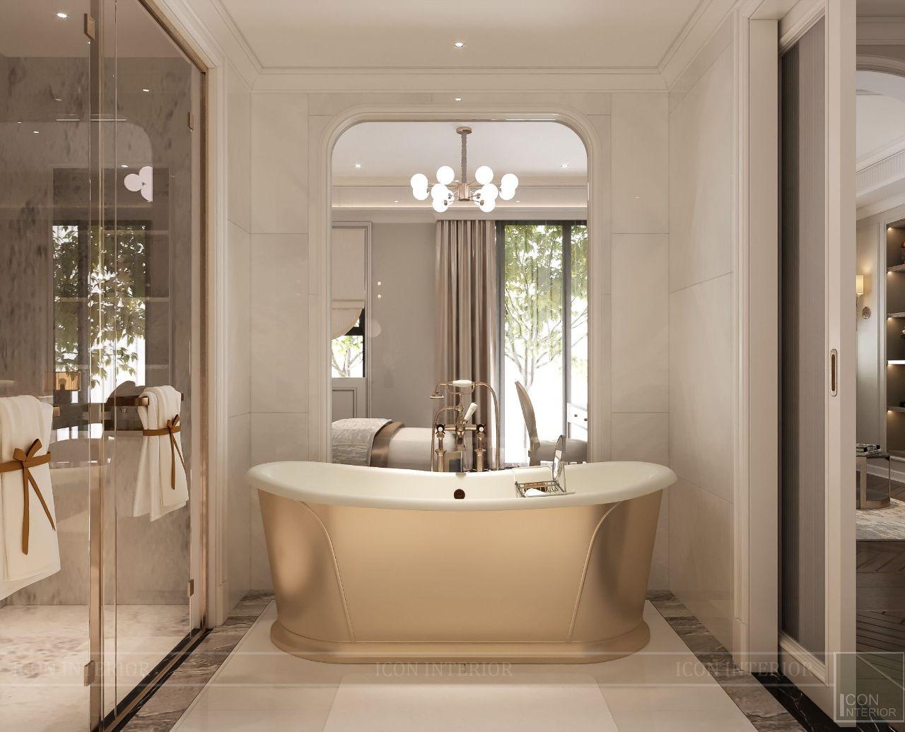 thiết kế phòng tắm biệt thự vạn phúc city