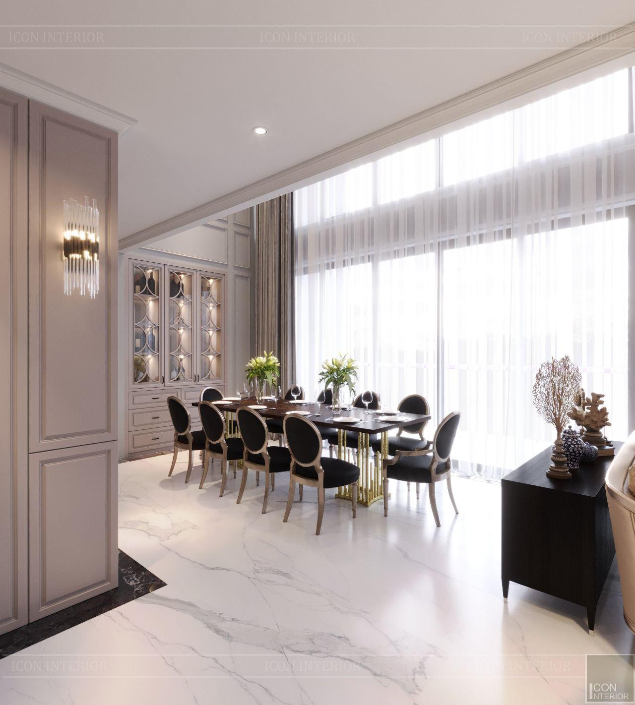 Mẫu thiết kế căn hộ chung cư duplex phong cách Tân cổ điển
