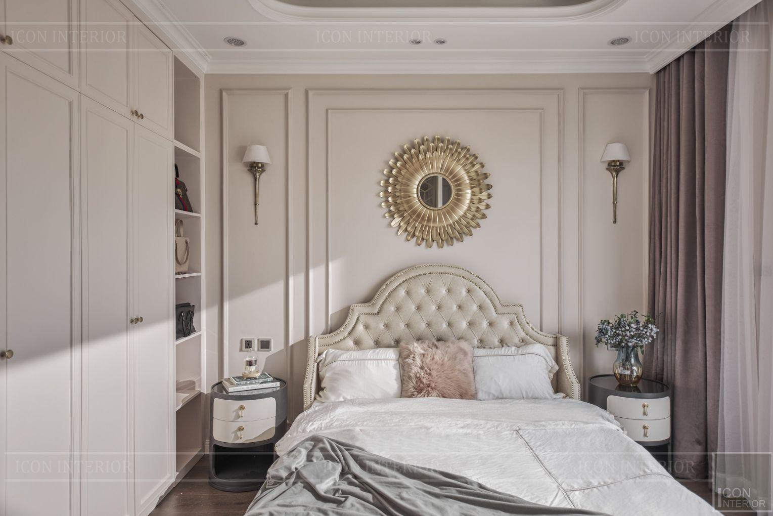 thi công nội thất phòng ngủ tân cổ điển biệt thự lavila