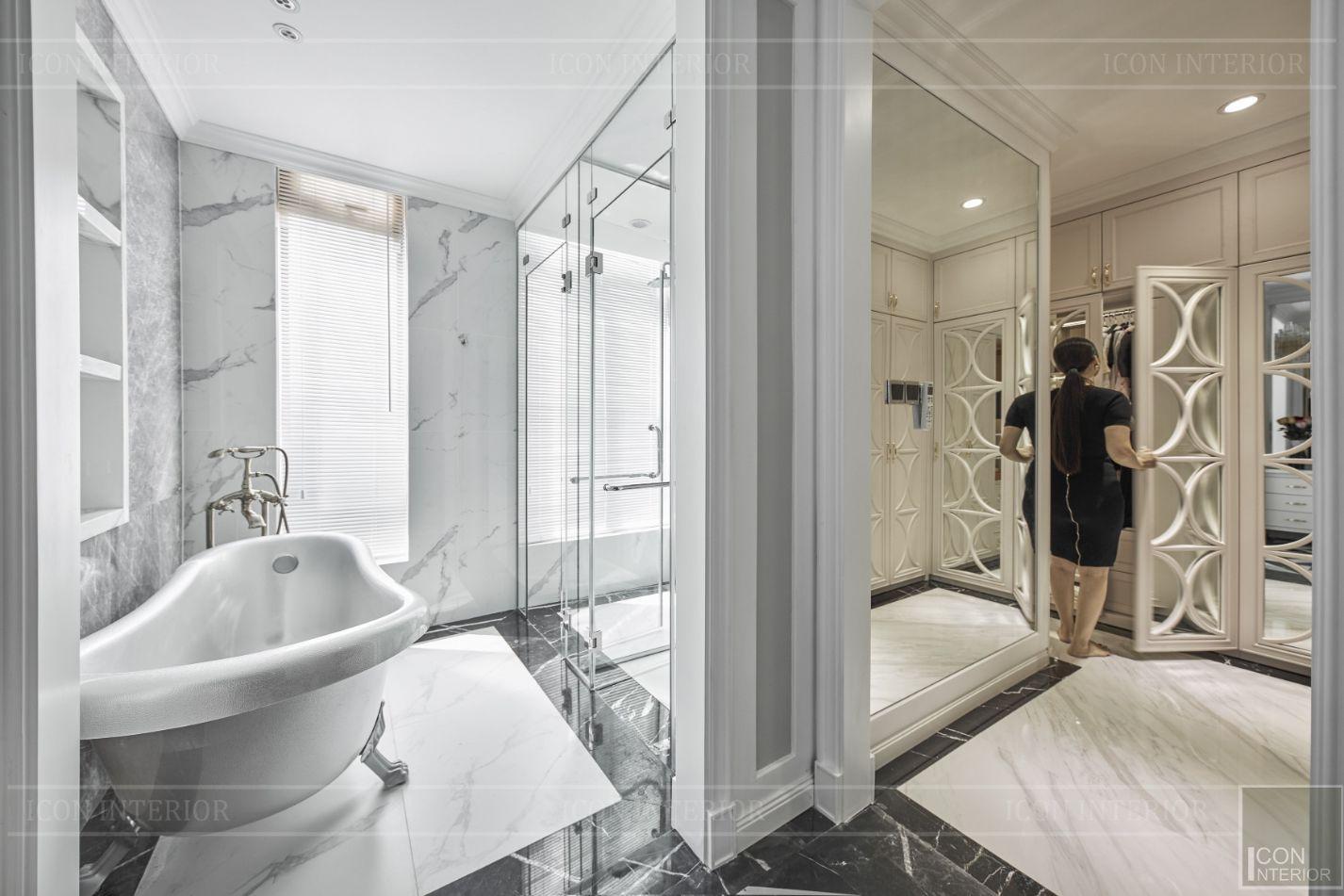 thi công phòng tắm nội thất biệt thự