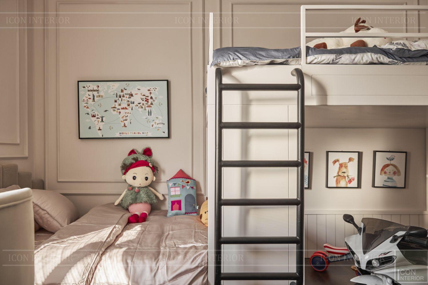thi công nội thất phòng ngủ trẻ biệt thự