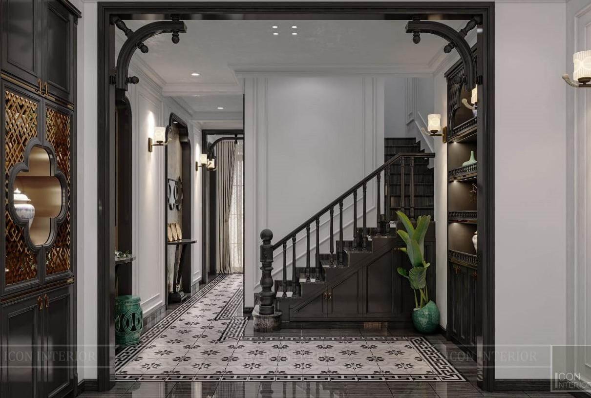 cầu thang ở phòng khách