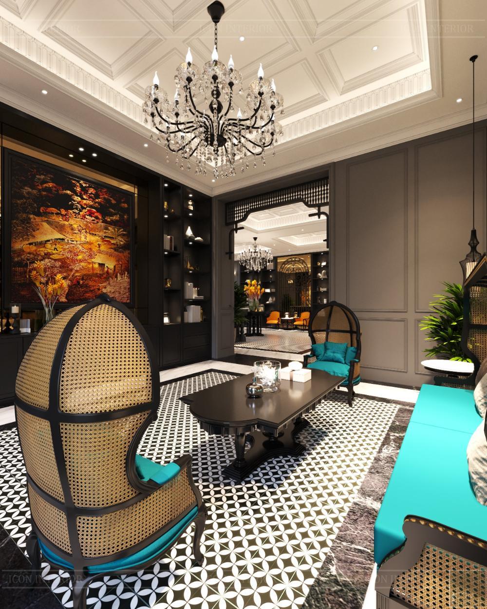 đồ nội thất quán cafe phong cách indochine