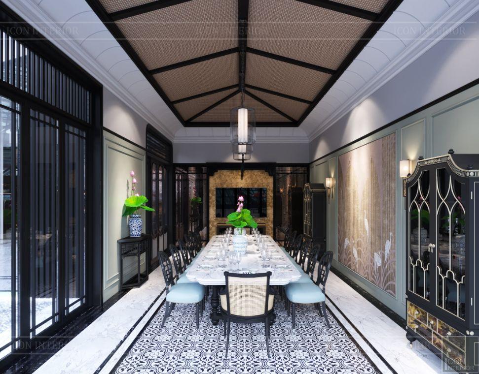 nhà hàng phong cách indochine