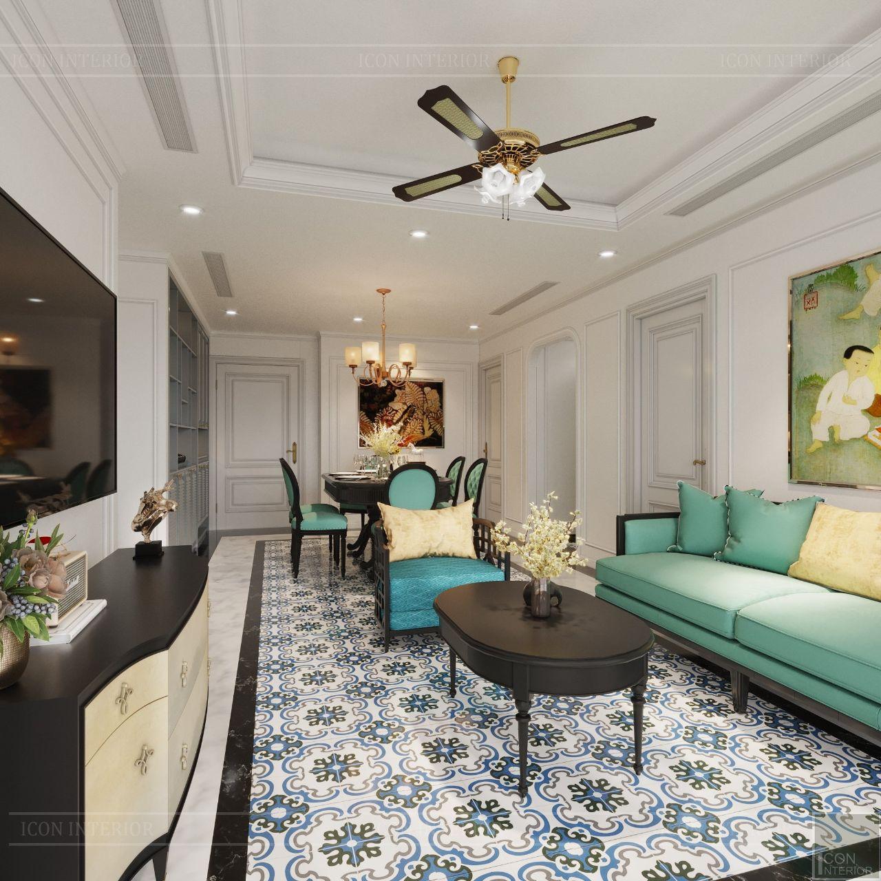 mẫu thiết kế phòng khách chung cư nhỏ sang trọng