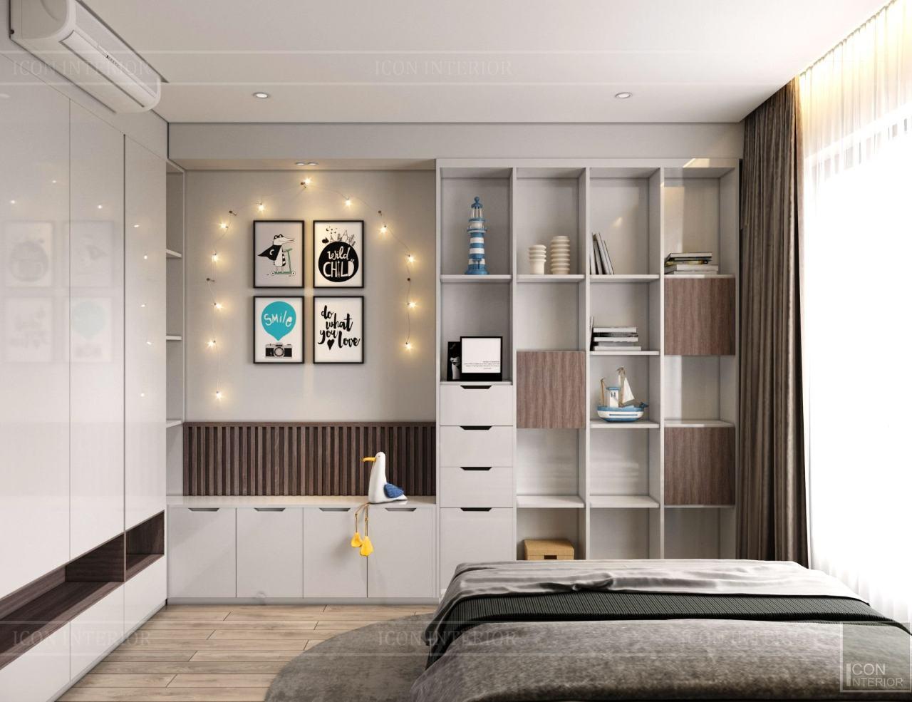 mẫu tủ phòng ngủ âm tường hiện đại