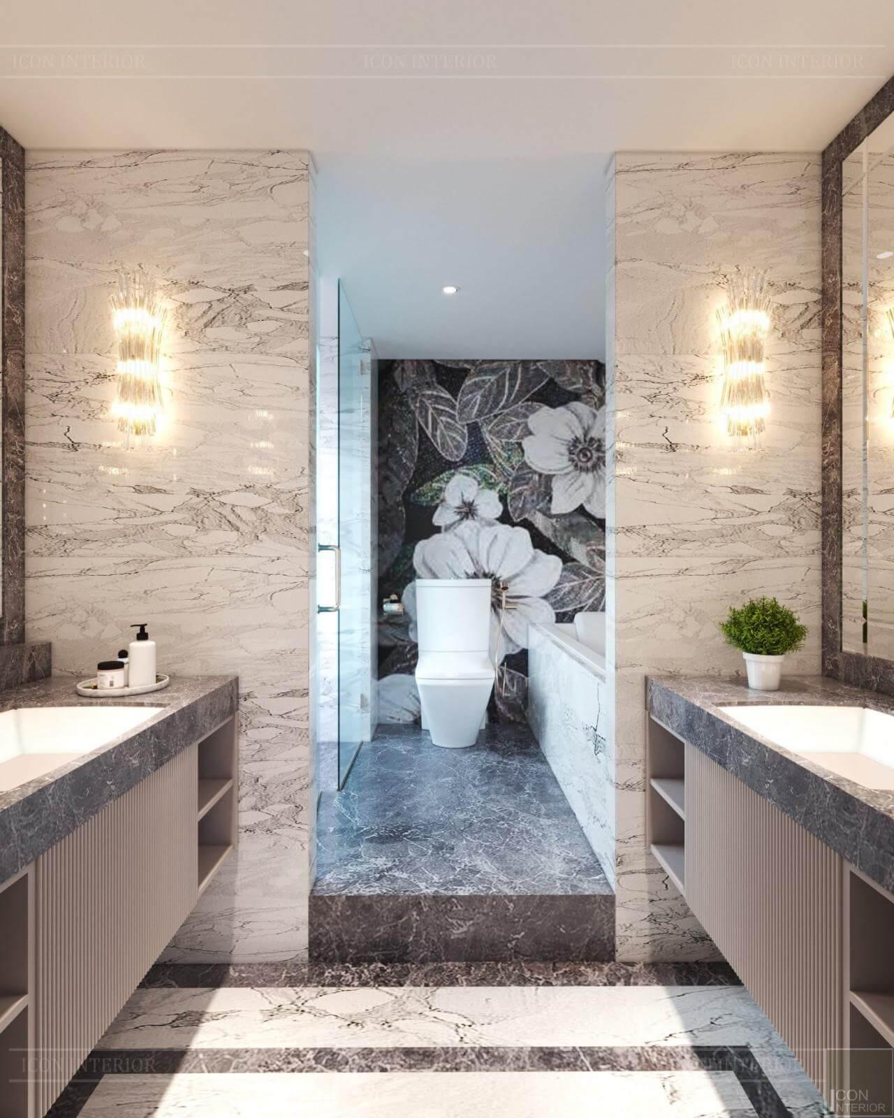 phòng vệ sinh tân cổ điển