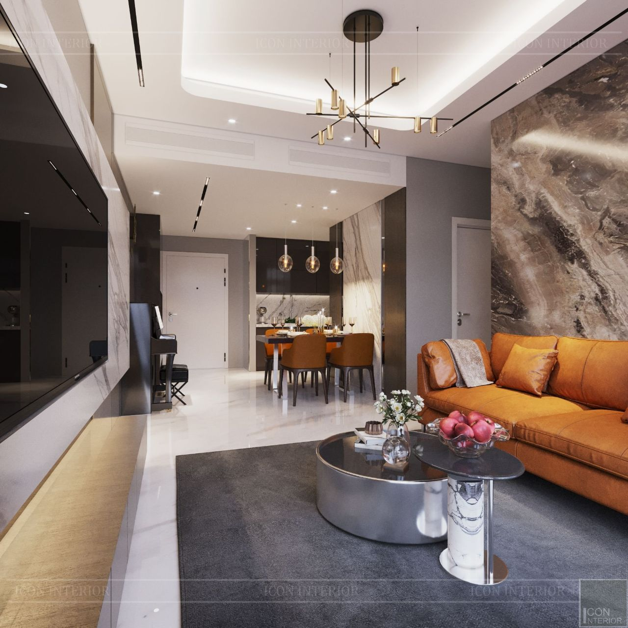 thiết kế phòng khách chung cư nhỏ