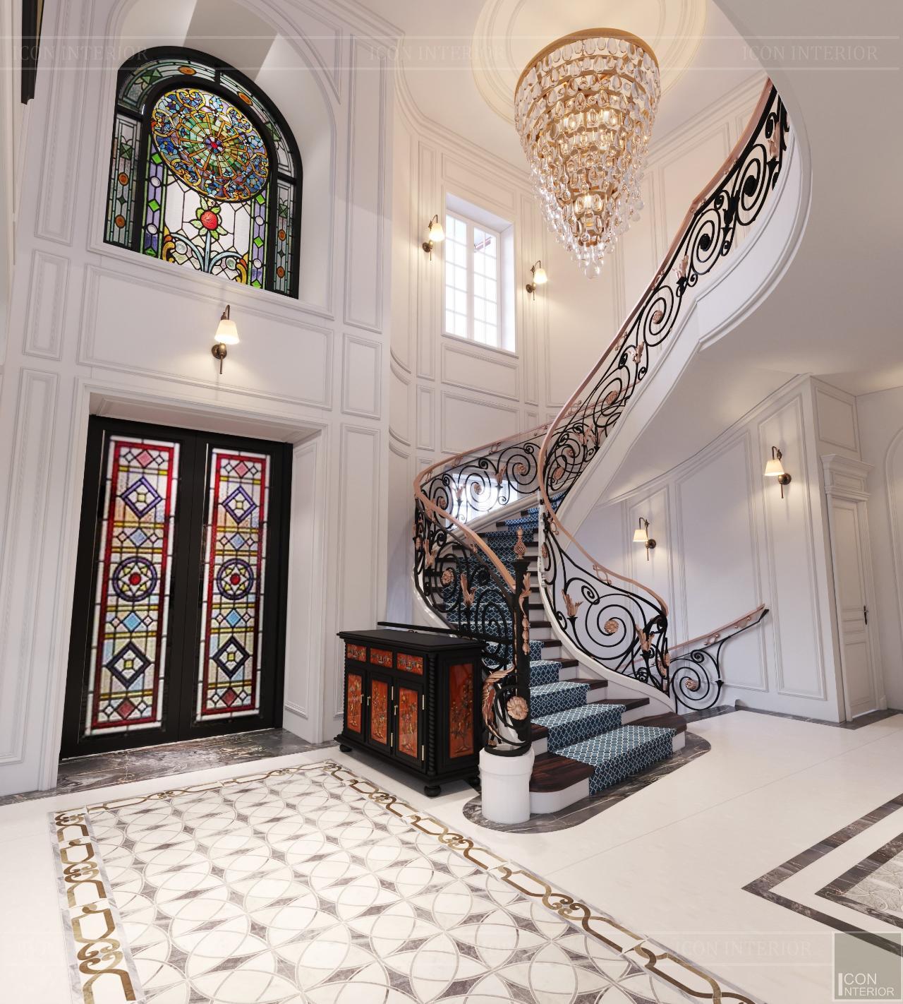 tủ cầu thang phòng khách