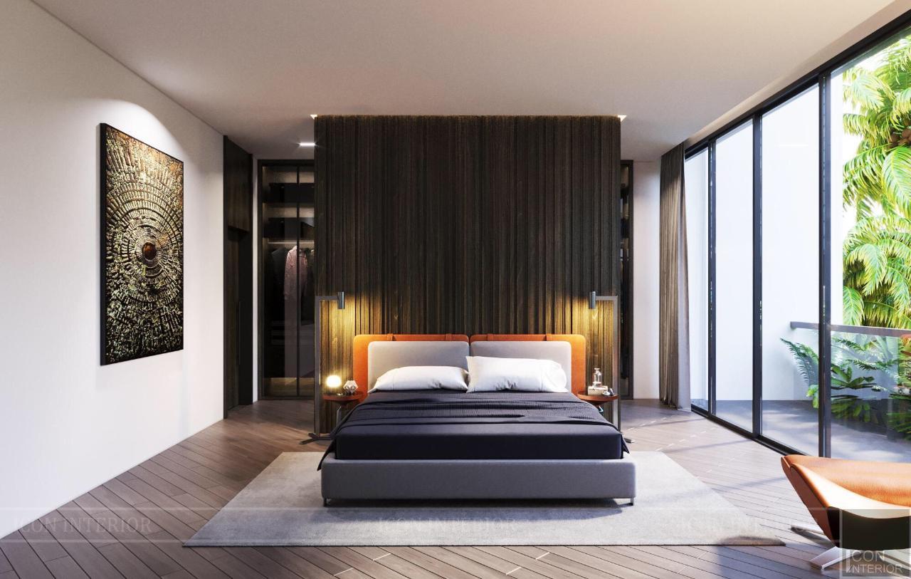vách ngăn gỗ phòng ngủ