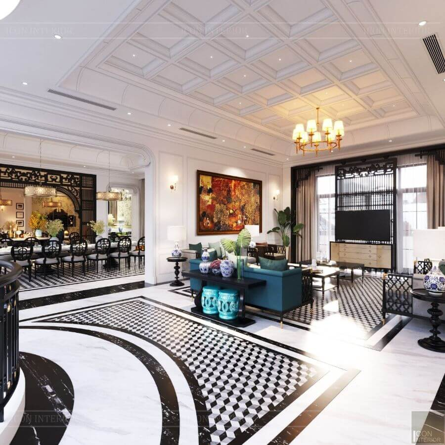 villa phong cách indochine