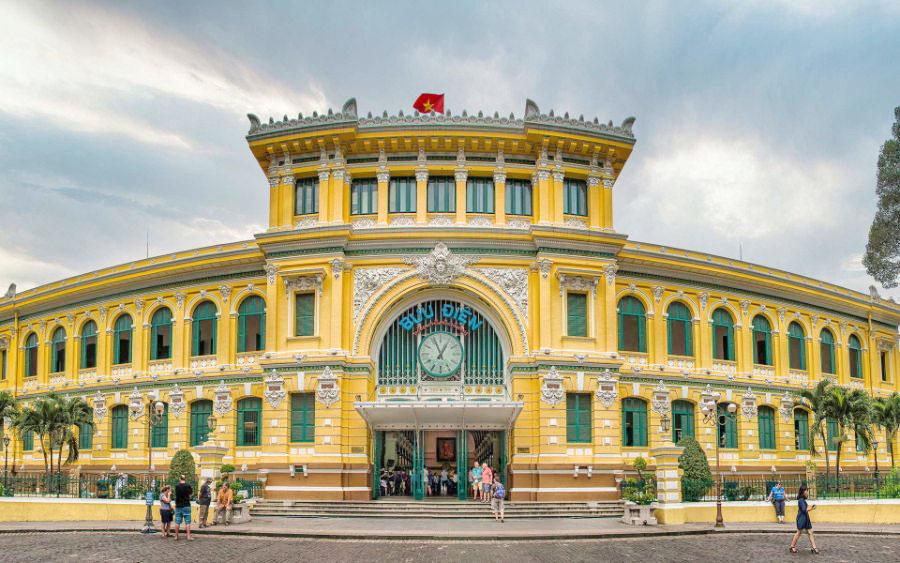 kiến trúc đông dương bưu điện thành phố