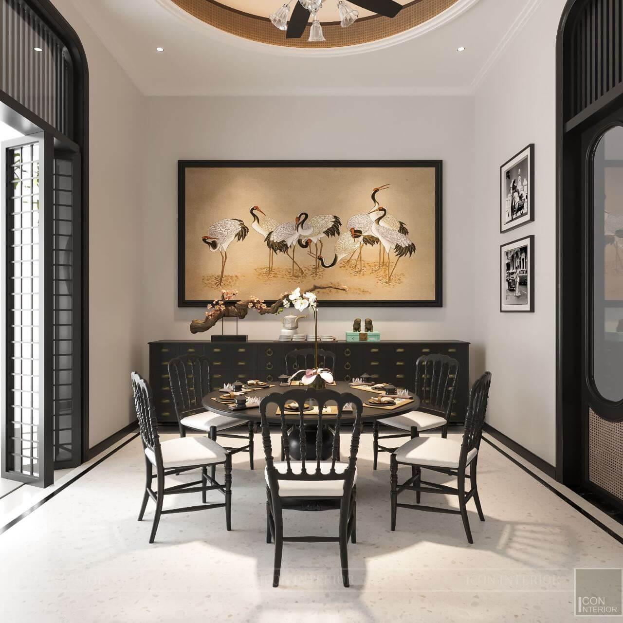 kiến trúc đông dương trong thiết kế nội thất phòng ăn
