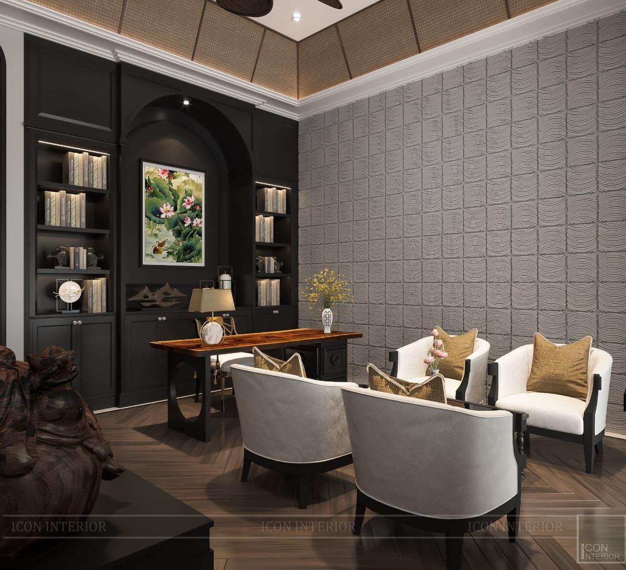 kiến trúc đông dương trong thiết kế nội thất phòng làm việc