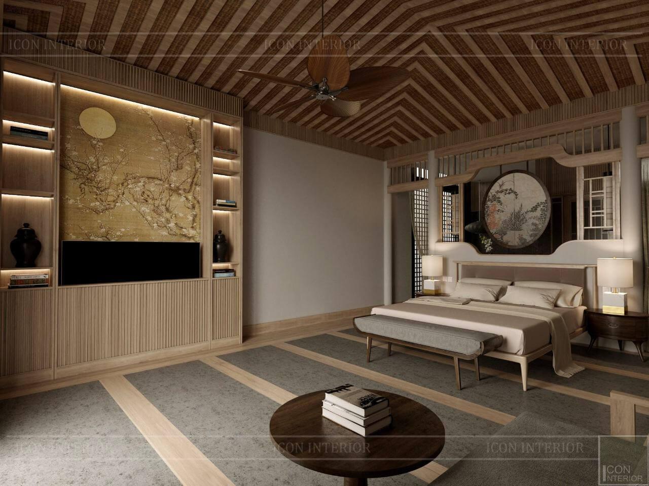 kiến trúc đông dương trong thiết kế nội thất phòng ngủ master