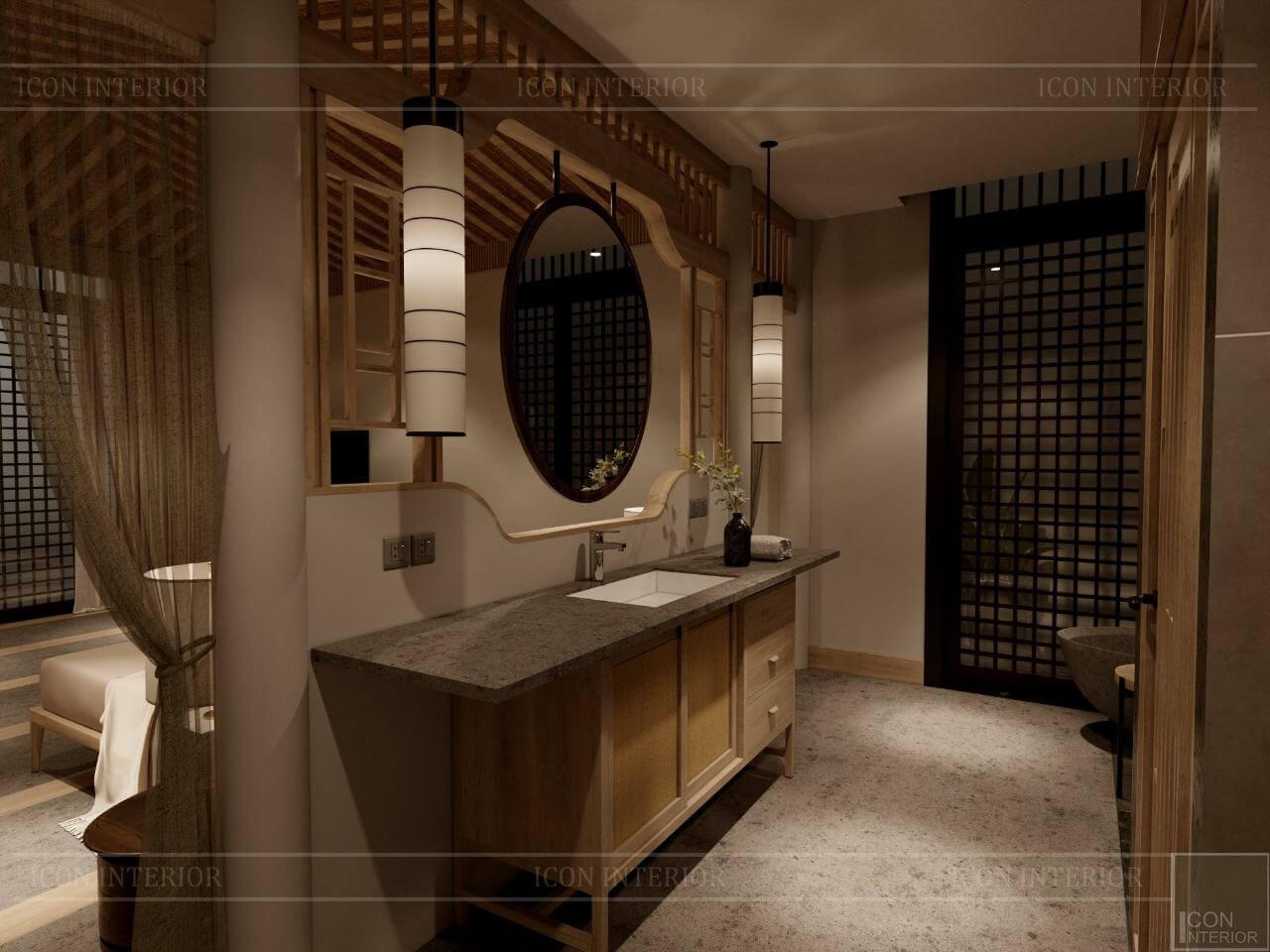 kiến trúc đông dương trong thiết kế nội thất phòng vệ sinh