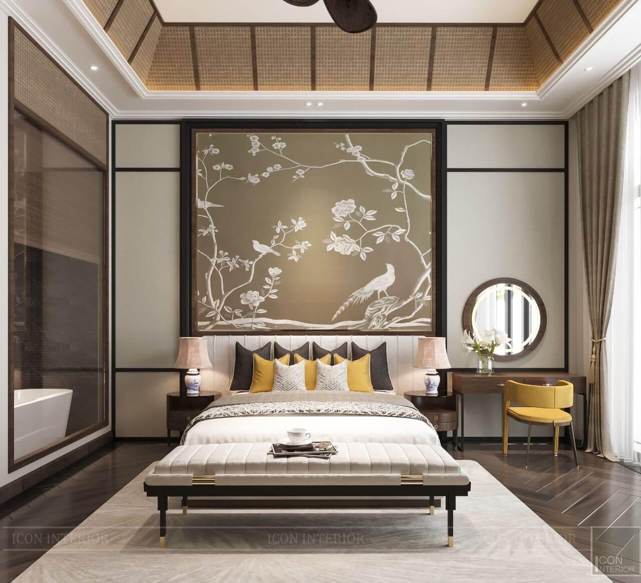 kiến trúc đông dương trong thiết kế nội thất phòng ngủ