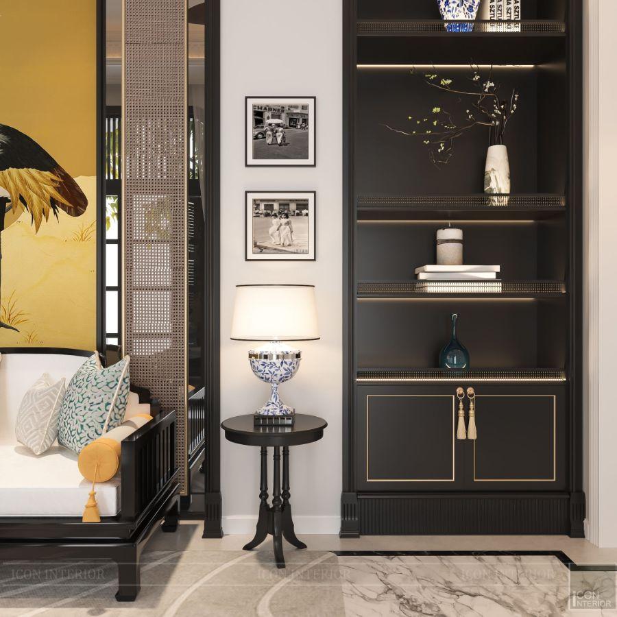 mẫu tủ tường phòng khách đẹp