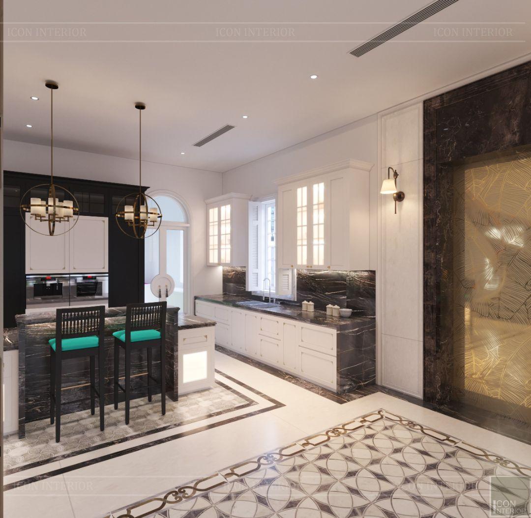 phòng bếp phong cách đông dương