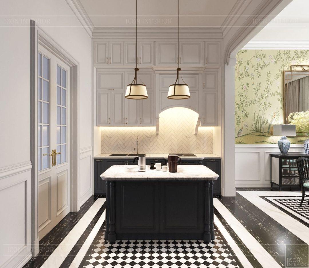 nội thất phòng bếp phong cách indochine
