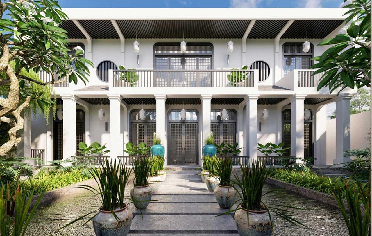 kiến trúc biệt thự phong cách Đông Dương
