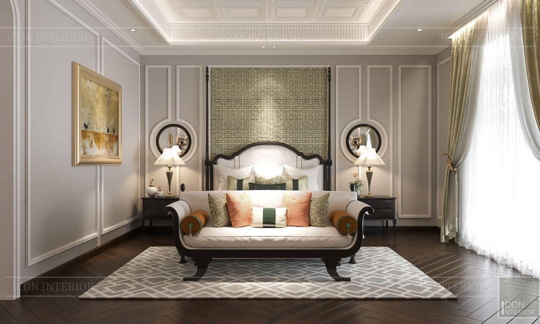 phòng ngủ phong cách đông dương