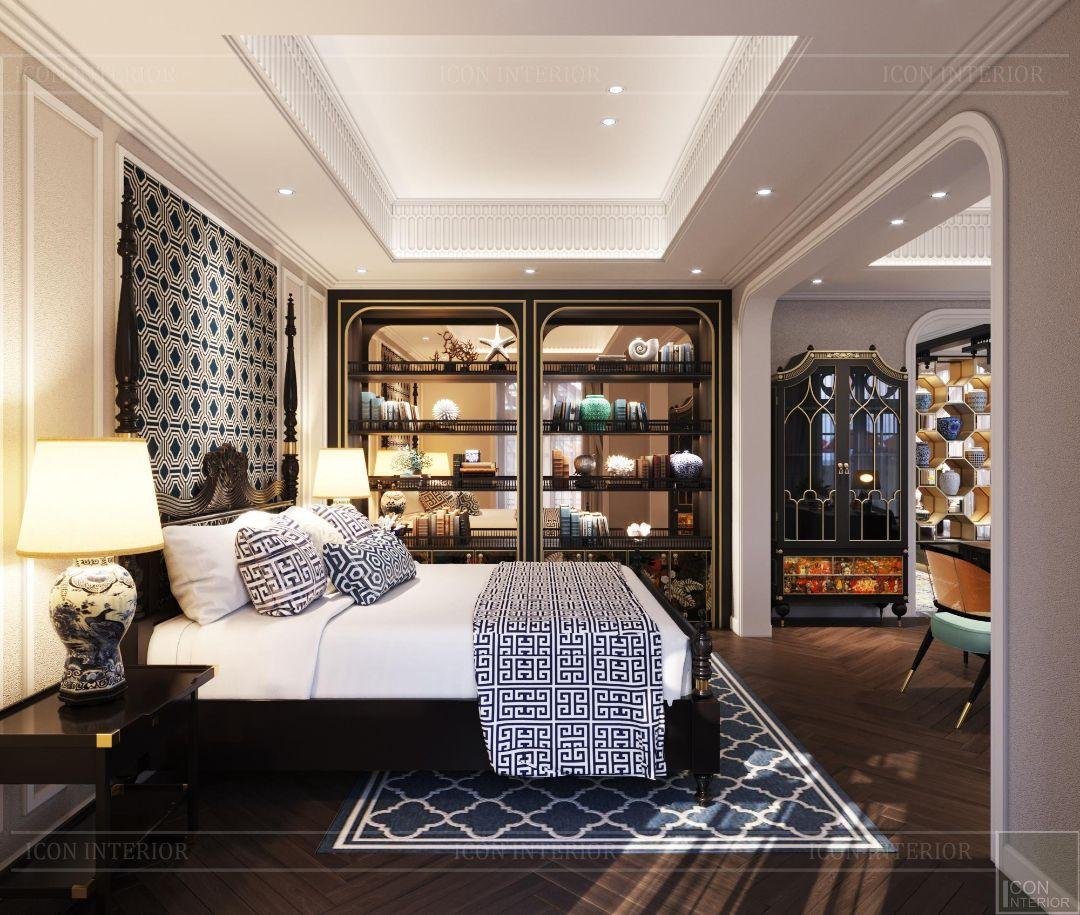 phòng ngủ phong cách indochine