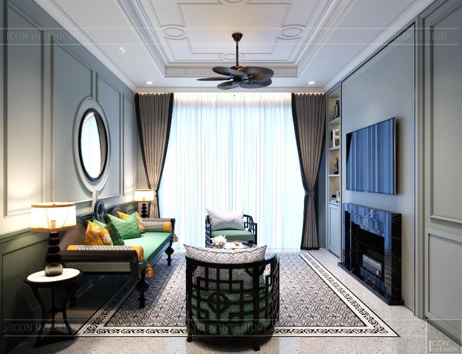 sofa phong cách đông dương