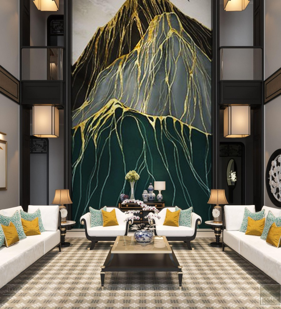 sofa phong cách indochine