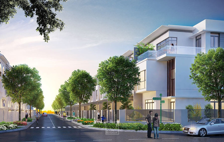 thiết kế kiến trúc biệt thự Phố Đông Village