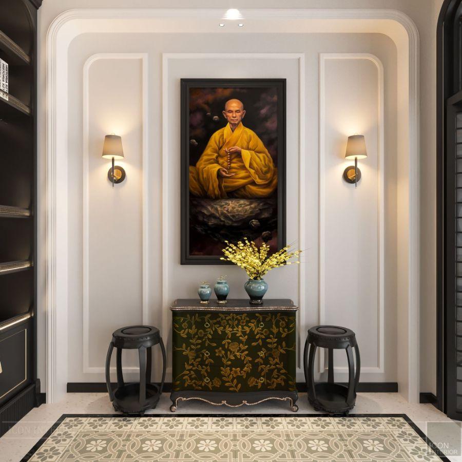 tủ nhỏ trang trí phòng khách