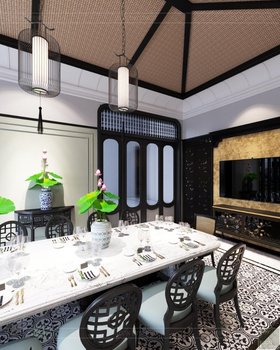 bàn ăn phong cách Indochine
