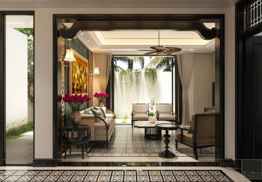 phong cách Indochine trong phòng khách