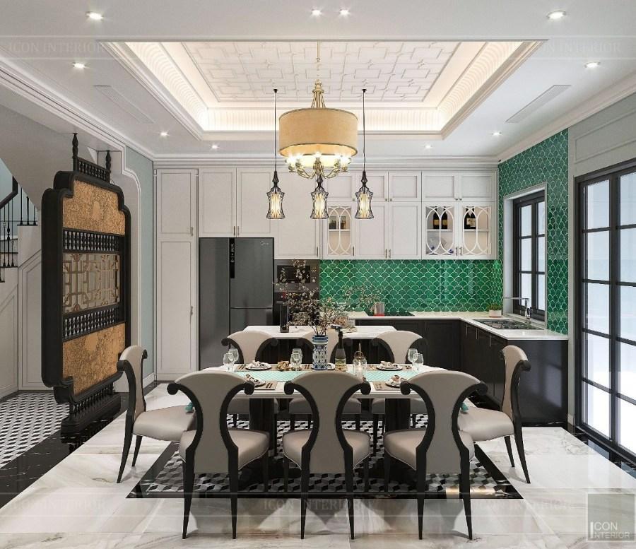 phong cách Indochine trong thiết kế phòng bếp