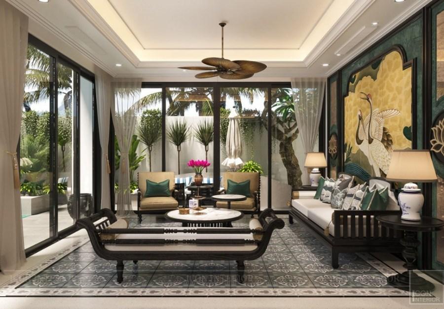 phong cách Indochine trong thiết kế biệt thự