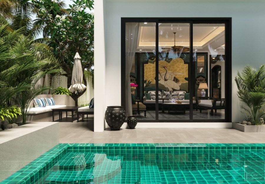 phong cách Indochine trong thiết kế sân vườn