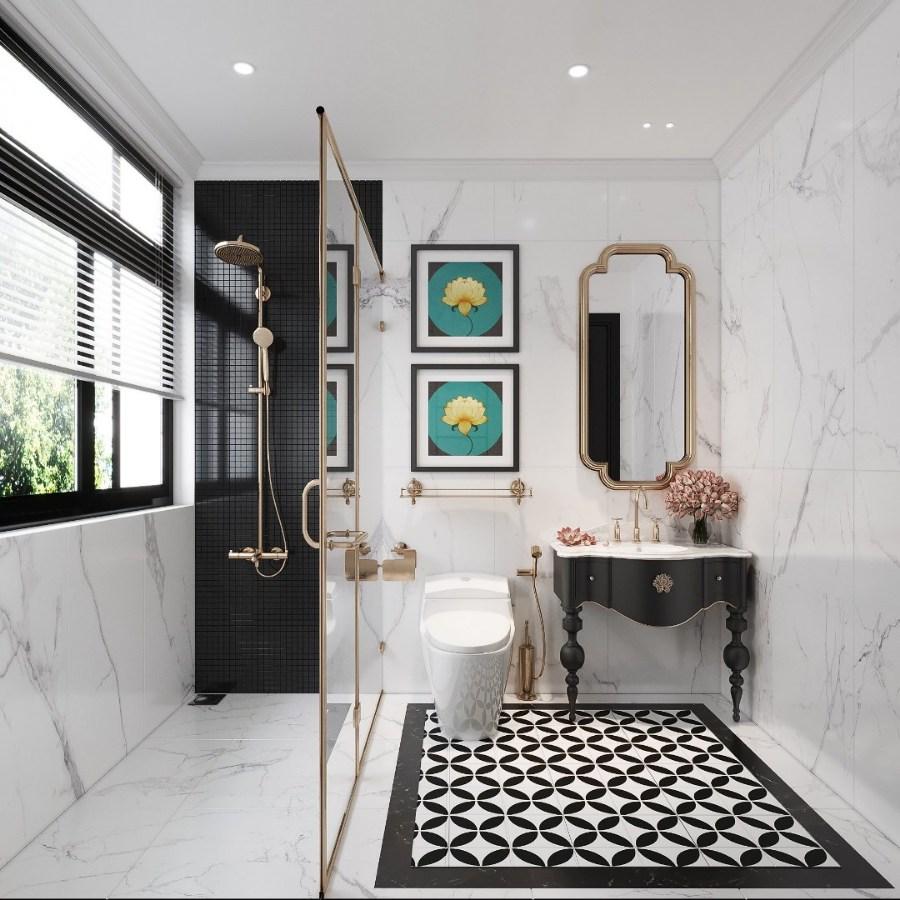 phong cách Indochine trong thiết kế phòng vệ sinh