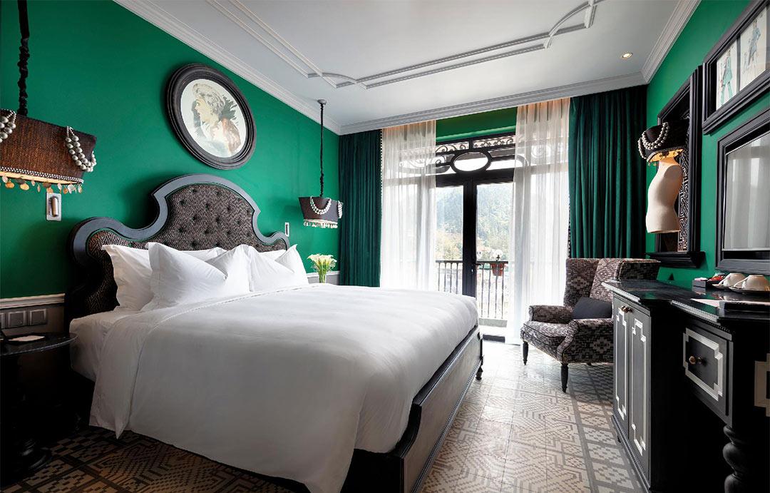 khách sạn phong cách indochine