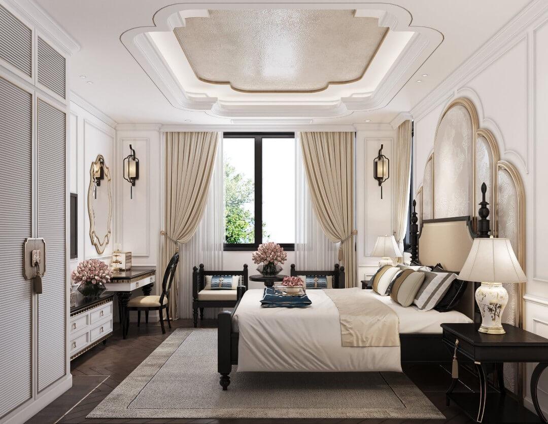 Nội thất phòng ngủ nhà biệt thự