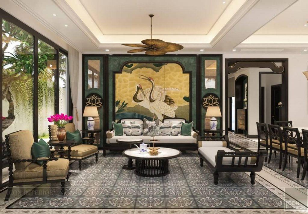 nội thất phòng khách villa đẹp