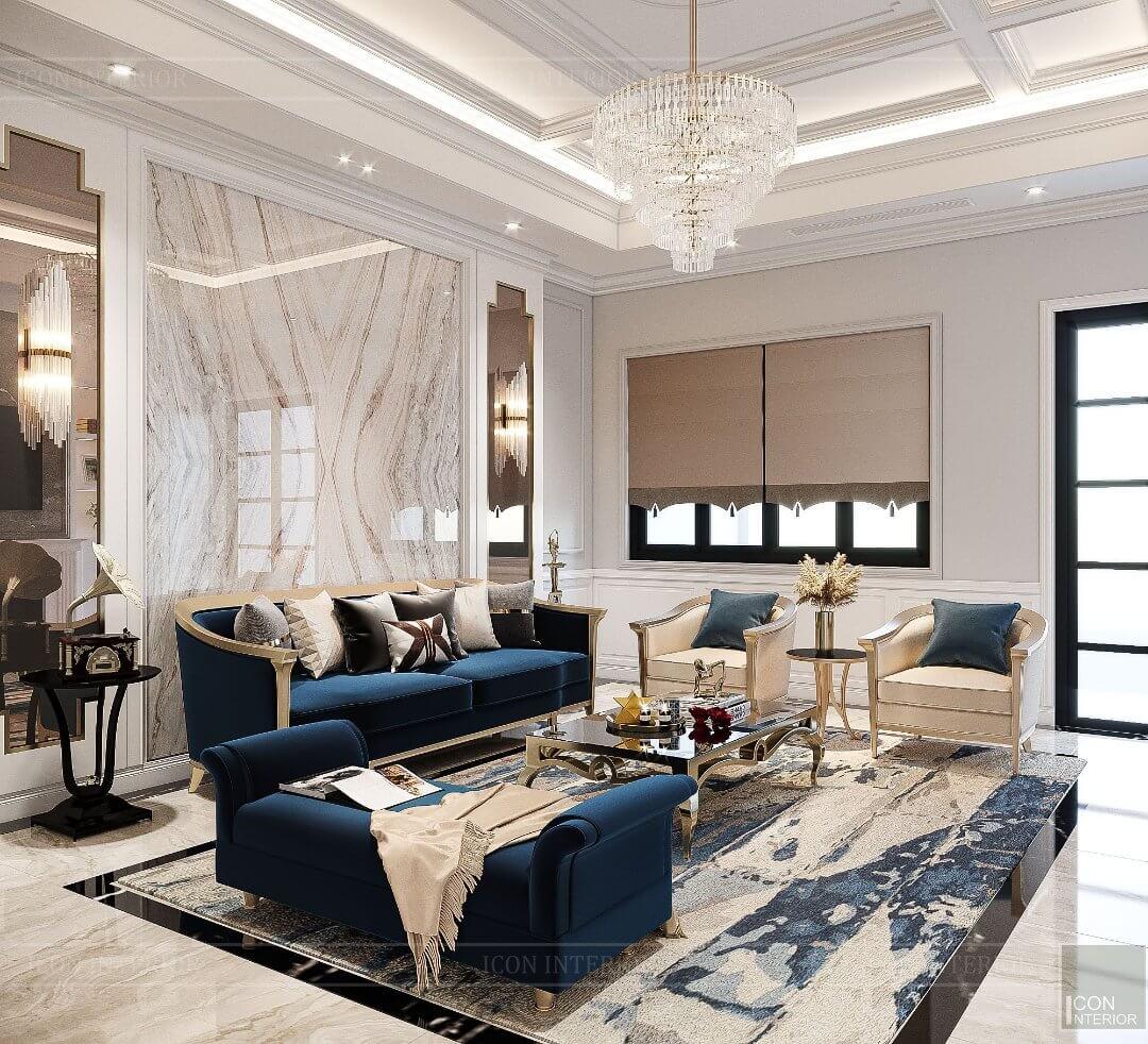 mẫu phòng khách biệt thự đẹp
