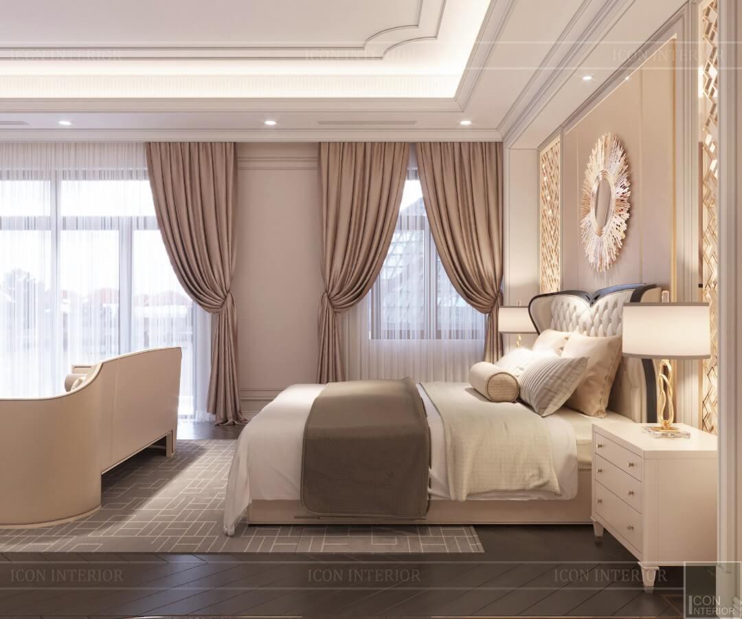 Phòng ngủ biệt thự sang trọng