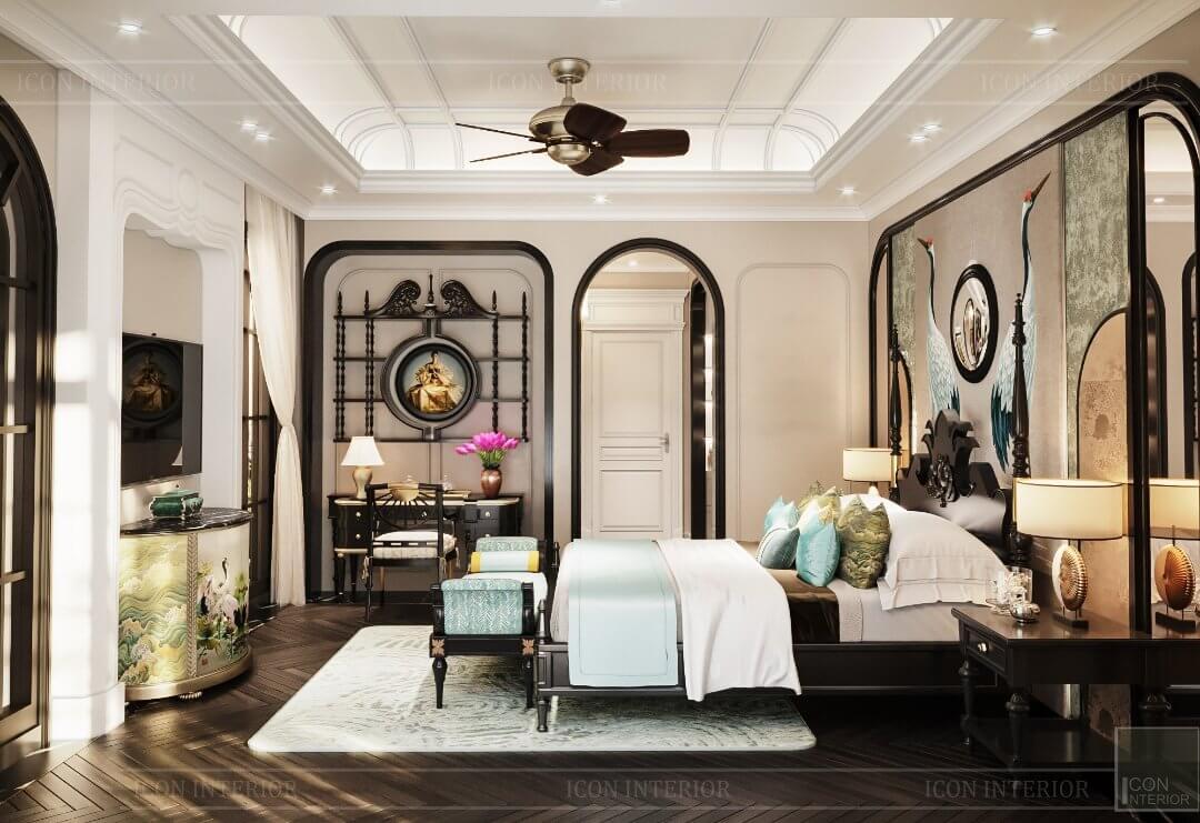 thiết kế phòng ngủ có bàn làm việc