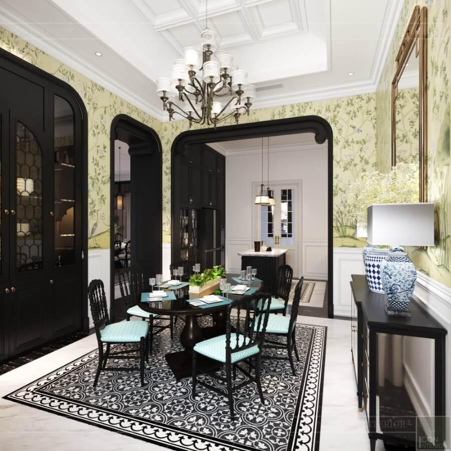 thiết kế nội thất nhà biệt thự song lập